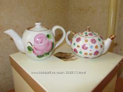 два чайничка антиквариат времен СССР
