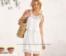 Платье белое с перфорацией Германия наш 48