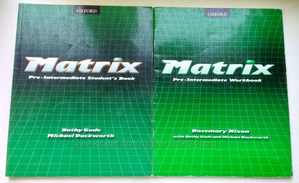 Комплект Matrix Pre-Intermediate Students book  Workbook Чистые