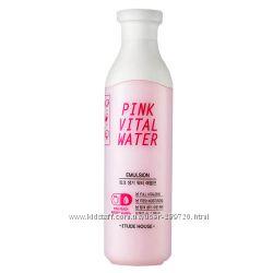 Эмульсия с экстрактом персика ETUDE HOUSE Pink Vital Water