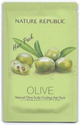 Маска для волос Nature Republic Nature olive Scalp Cooling Hair Pack
