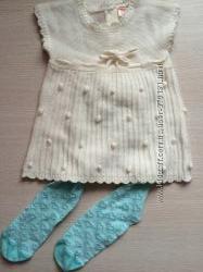 Платье 6-12 м колготки в подарок новые Primark