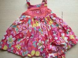 Платье с трусиками 1-3 года новое