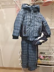 Зимний комплект курточка  комбинезон с крагами CHICCO  Flurry