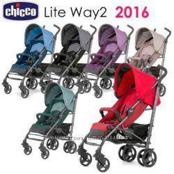 коляска-трость Chicco Lite Way  с бампером и чехлом