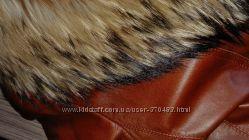 Куртка кожаная с натуральной подкладкой с кролика размер С