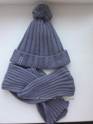 Шапка и шарф польского производителя. Размер 50-52