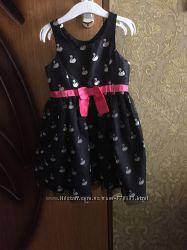 Красивое платье H&M с лебедями колготы
