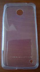 Прозрачный силиконовый чехол для Nokia Lumia 630