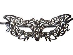 Черная ажурная маска 155206 / 192304