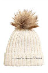 Новая шапка H&M L. O. G. G. 50шерсти с помпоном