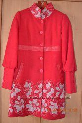 Красное пальто р. 50
