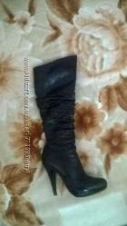 сапожки лак кожа на ножку 23, 5 см 36р.