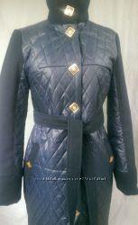 Пальто стеганое  с кашемиром
