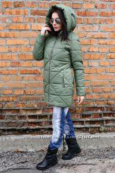 Стильная прямая стеганая женская куртка