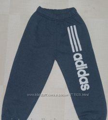 Детские штаны спортивные для мальчиков Adidas начес