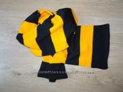 Шарф желто-черный