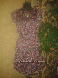 платье женское 44-46рр Atmosphere шифон цветочное
