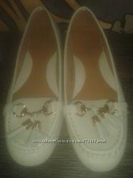 туфли мокасины женские TU 39рр кожа новые
