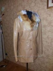 Куртка женская пиджак Vera Pelle Италия кожа 46рр новая
