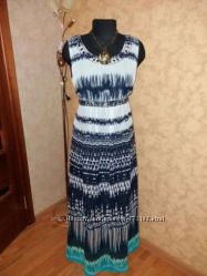 Платье сарафан 46-48р шифон макси marks spenser