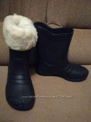 Резиновые сапожки c теплым носком