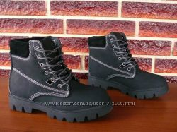 Зимние ботинки полуботинки на меху в стиле Тимберленды
