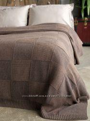 Вязаные пледы-покрывала 220-240 см шикарное качество