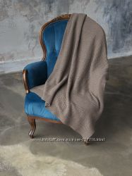 Шерстяной плед-накидка размер 130-170 см