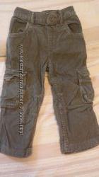 Вельветовые штаны Debenhams на 3- 4 года рост 104 см в идеальном состоянии