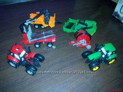 Набор тракторов с прицепами IDEAL FARM
