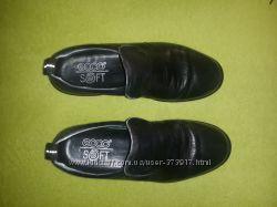 Отличные чёрные туфли ECCO, натур. кожа, р. 37, 38