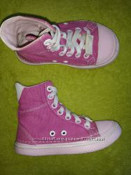 Розовые высокие кеды кроссовки CROCS C9, 16, 5см, р, 25-26