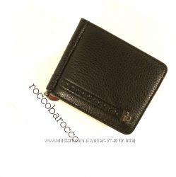 Купюрник-зажим кожаный для денег магнитный RoccoBarocco 47007 с монетницей