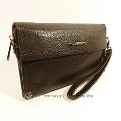 Клатч мужской кожаный средний Armani 3410-2 коричневый, сумка мужская