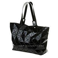 Сумка-шоппер женская Velina Fabbiano 57813-32 из лаковых кусочков черная