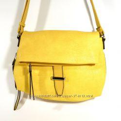Стильный клатч, сумочка Batty 2640 желтая, расцветки в наличии