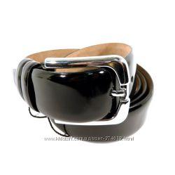 Ремень мужской кожаный универсальный Tony Bellucci черный лаковый