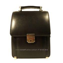 Борсетка кожаная мужская вертикальная Desisan 203 1 черная, сумка через пле