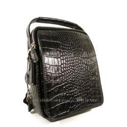 Борсетка кожаная мужская Desisan 343-11 черная, сумка через плечо