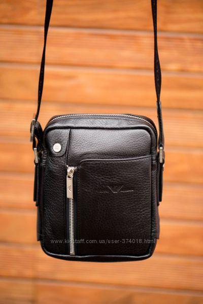 Мужская сумка-портфель Giorgio Armani, темно-коричневый