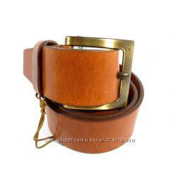 Ремень мужской кожаный универсальный Tony Bellucci коричневый, винтаж