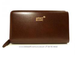 Клатч кожаный мужской MontBlanc 8106-4 коричневый