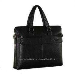 Сумка мужская для документов, портфель Giorgio Armani 6618-3 черный