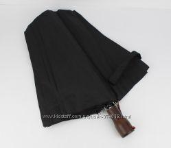 Мужской зонт полуавтомат KrisPils 025 черный на 2 сложения