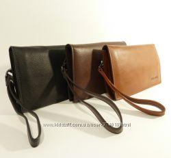 Стильный мужской клатч-портмоне Prada - натуральная кожа в наличии