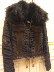 Джинсовая куртка Balizza с замшевыми вставками.