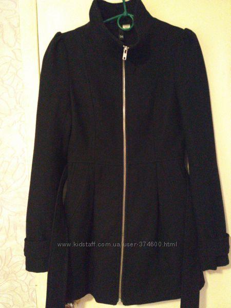 Пальто H&M ХS разм 34 шерсть сост идеал