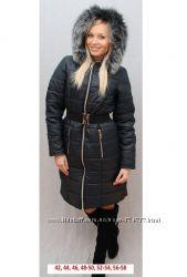 Пальто женское зимнее утеплитель Холлофайбер акция