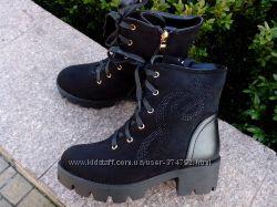 Зимние женские ботинки размер 36-39 чёрные